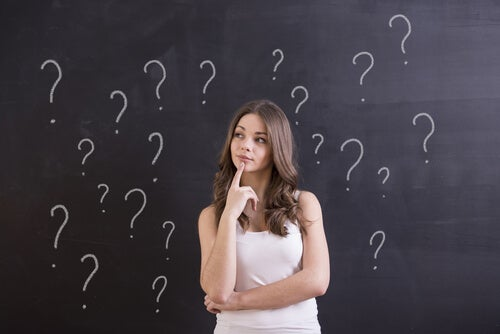 woman thinking without knowing what to do