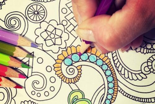 Coloring a Mandala