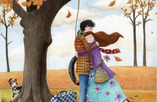 Couple Hugging Under Tree