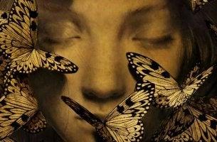 butterflies on face