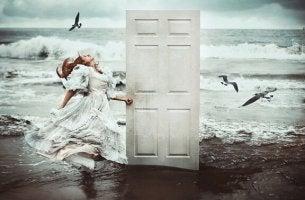 door on beach