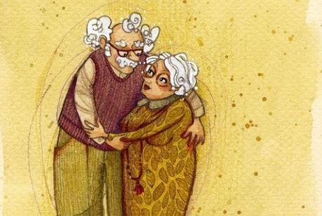 grandparents hugging