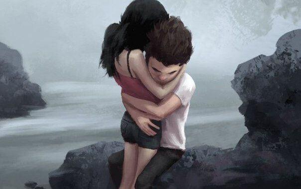 sretan par zagrljaj