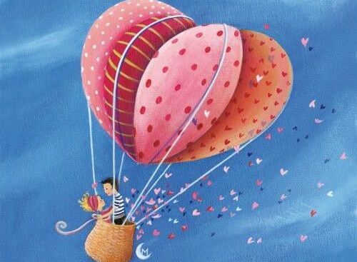 heart hot air balloon