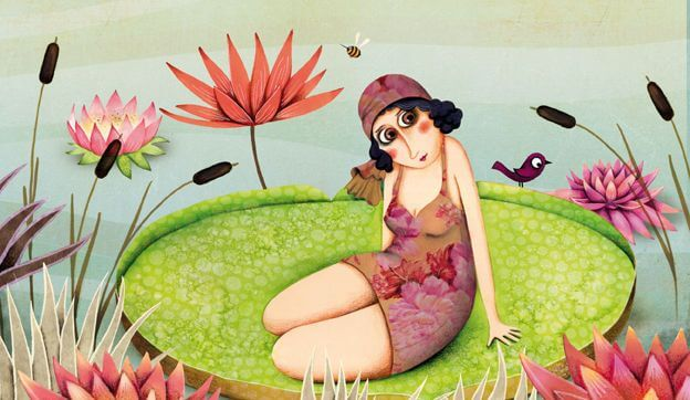 Woman on Lilypad