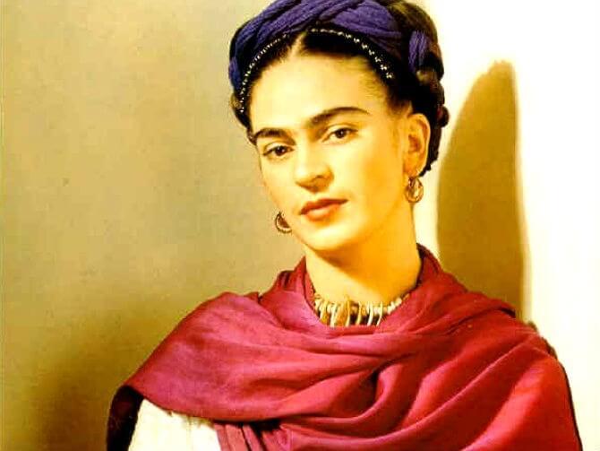 portrait of Frida Kahlo inspirational