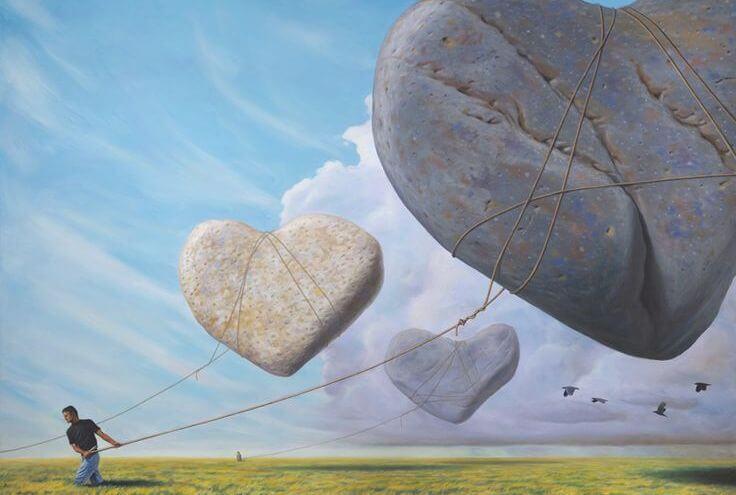 floating giant rocks arguments