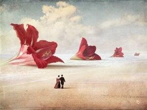 couple walking unreality