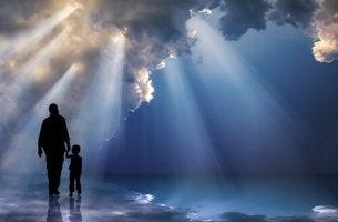 father sun walking together gratitude
