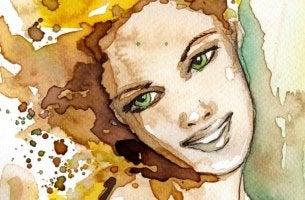 watercolor woman 4