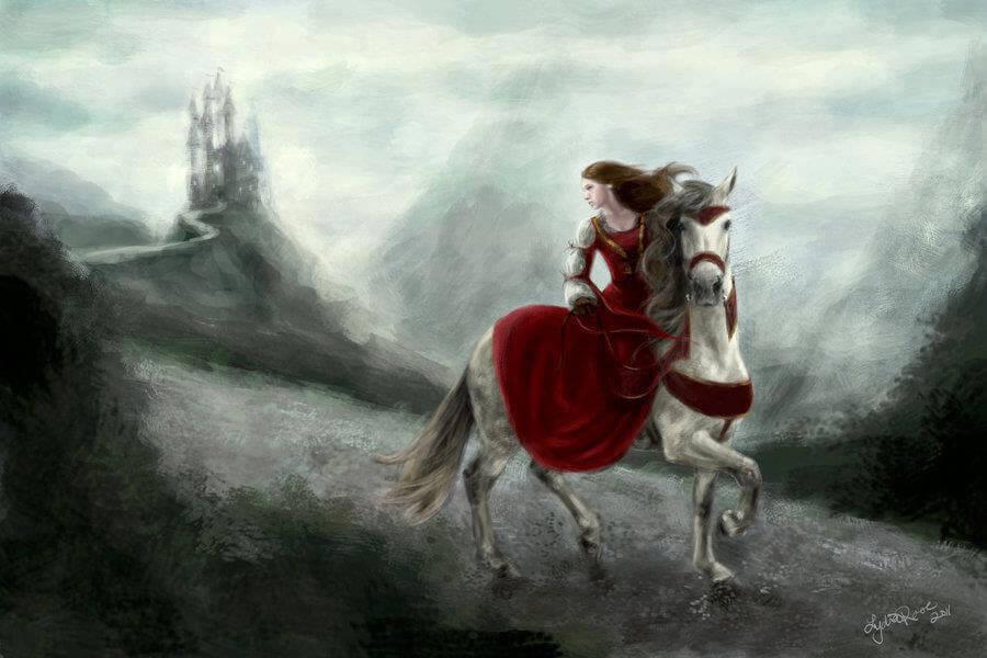 Elämän myrskyt nainen ratsastaa