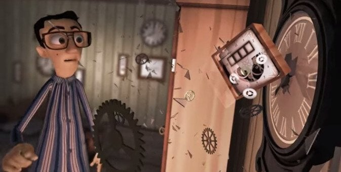 animation breaking clock