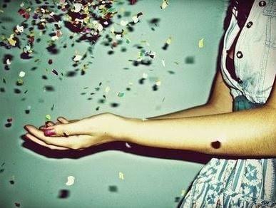 catching confetti