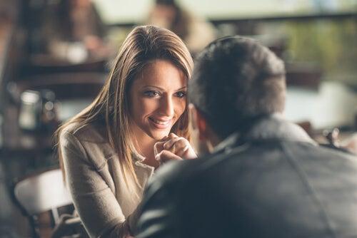 woman flirting smile
