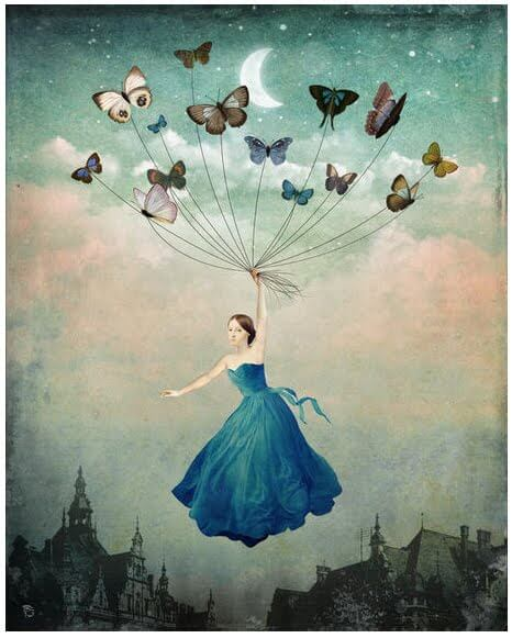 flying with the butterflies