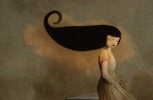 girl with long black hair myths