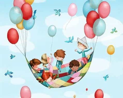 Children in Hammock Balloons