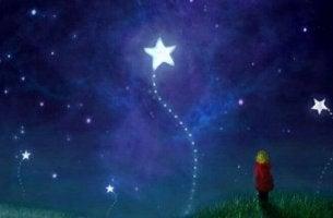 lady looking at stars