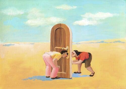 people keyhole