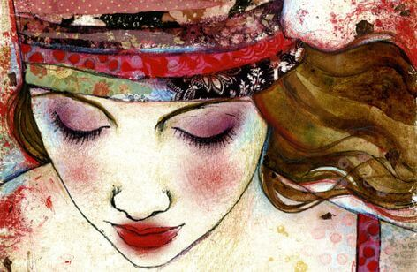 Woman with Colorful Bandana