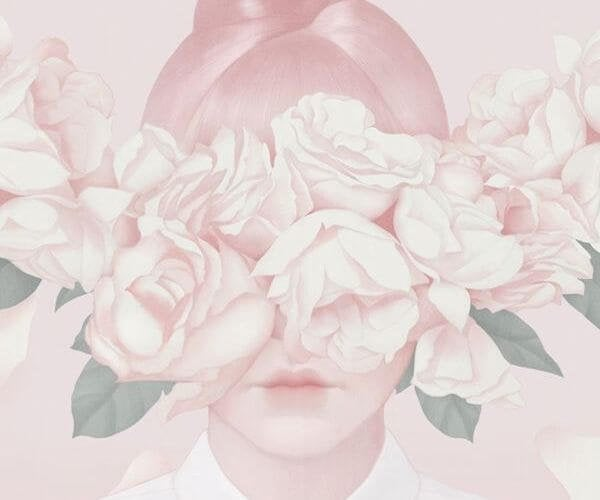 roses over eyes