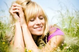 woman resting smile