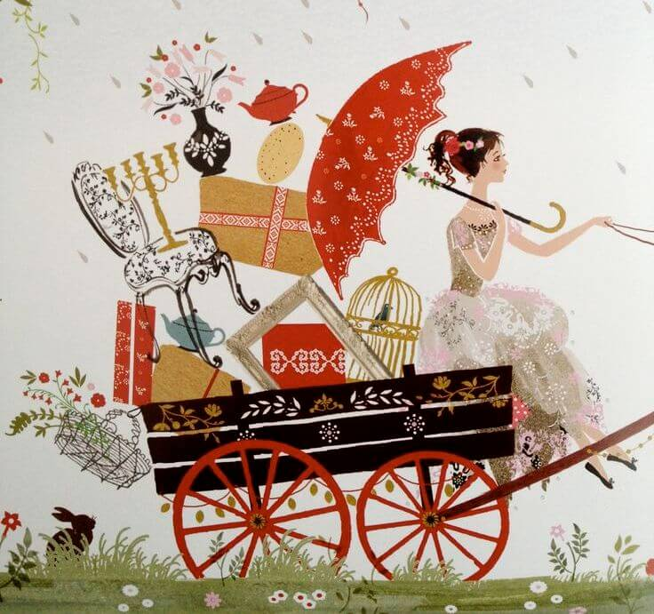 woman on carriage