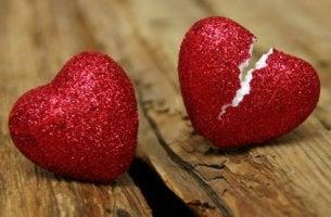 broken glitter heart