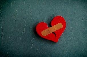 broken heart bandaid