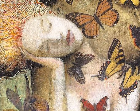 woman and butterflies hypersensitive