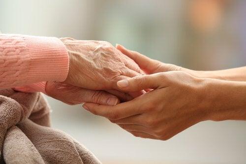 hands holding hands defines