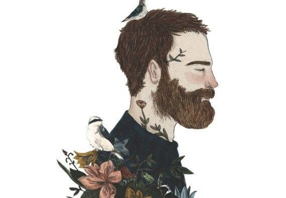 Bearded Man with Birds