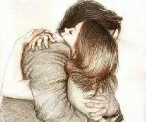 hug man woman