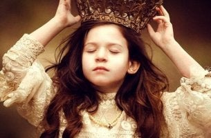 little girl wearing crown