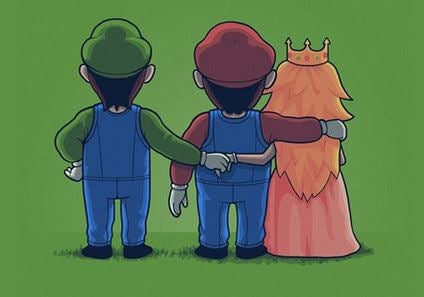 mario princess peach and luigi