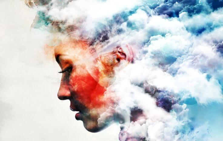 profile between clouds