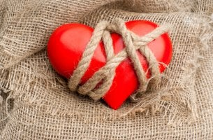 tied up heart