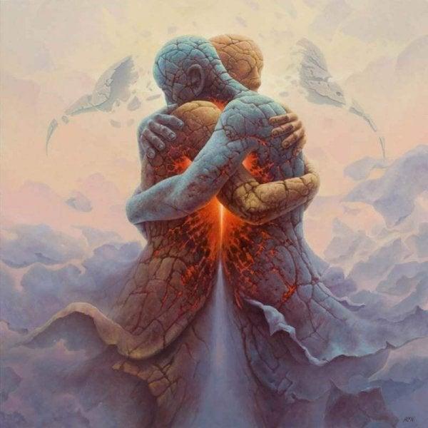 earth people hugging