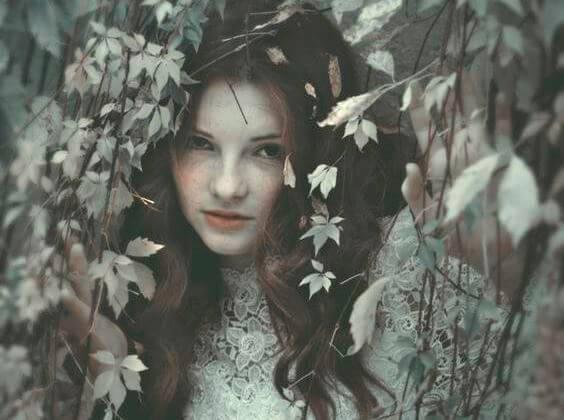 girl in the brush