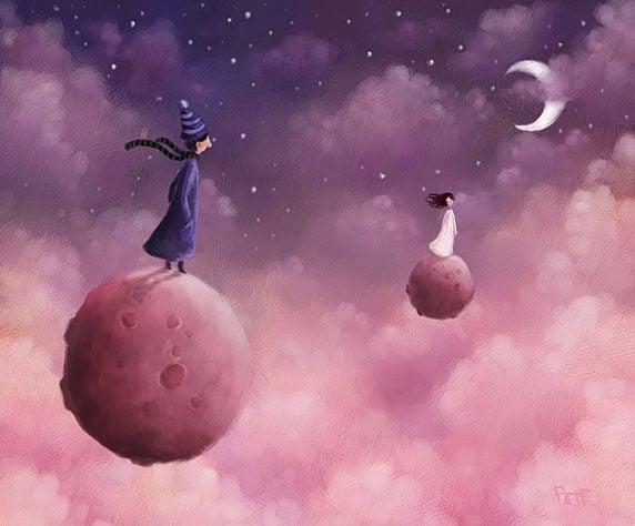 people on moons