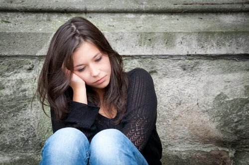 young woman feeling sad
