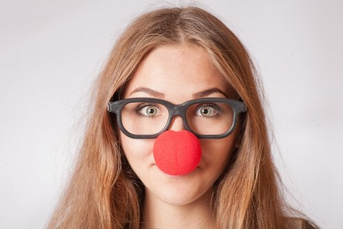 Woman with Clown Nose
