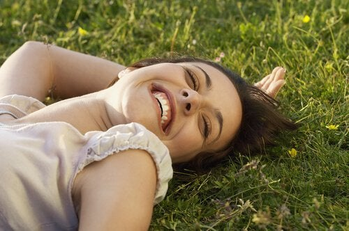 Smiling Women in Grass