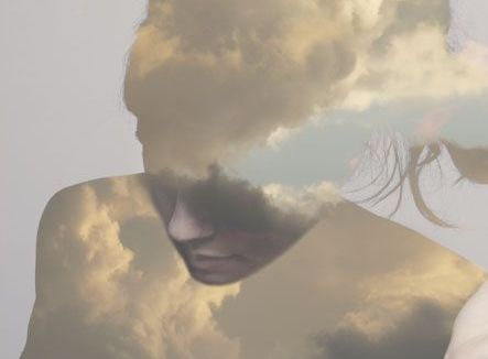 clouds in the form of a woman