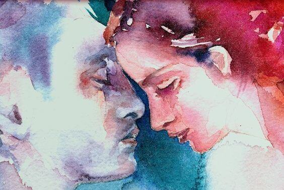 watercolor couple