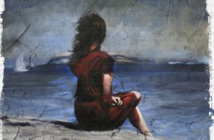 Woman Staring at Sea