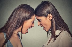 Two Women Yelling at Each Other