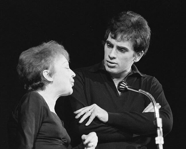 Edith piaf with Theo Sarapo