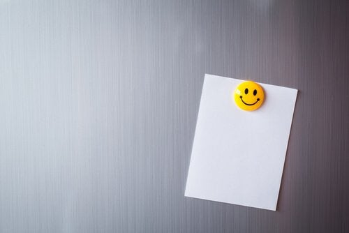 Paper and Smiley Face Magnet