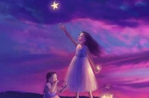 Girl Reaching For Star